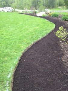 Monmouth, Maine Front Bed After Edging & Mulch